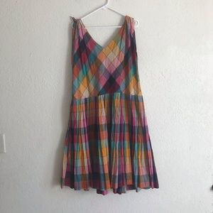 VTG 80s drawstring shoulder drop waist midi dress